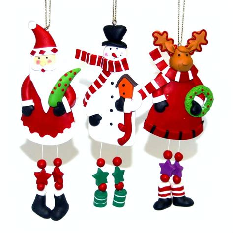 knobbly knees clay christmas tree ornaments handmade xmas