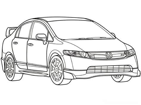sketsa mewarnai gambar mobil dunia putra putri