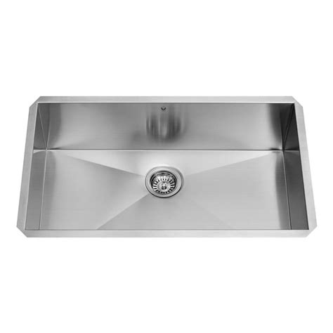 shop vigo 32 in x 19 in stainless steel single basin