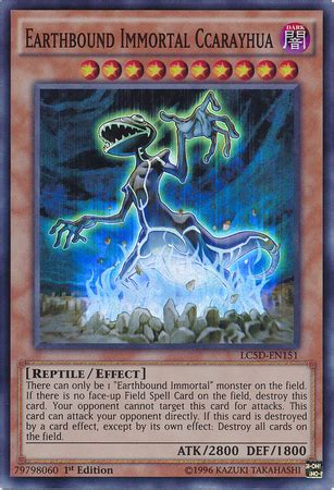 yu gi oh erdgebundener unsterblicher deck card rulings earthbound immortal ccarayhua yu gi oh
