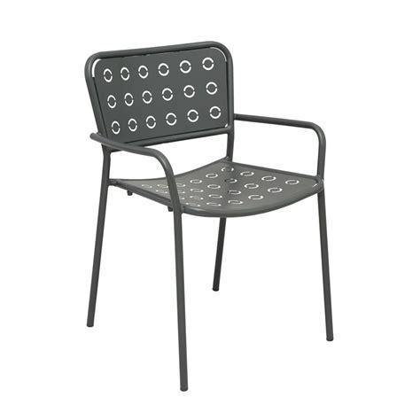 Sedia In Metallo by Rig75p Sedia In Metallo Con Braccioli Impilabile Per
