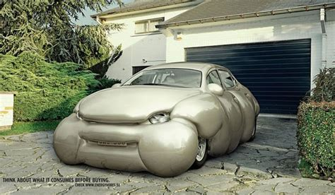 by erwin wurm fat car the cost of obesity to fuel use one billion gallons a year