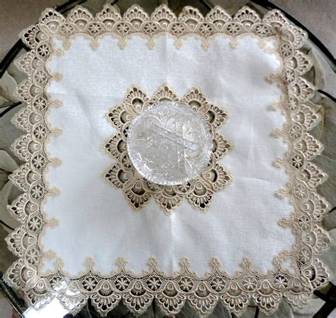 33 square table topper soft gold lace bordertablecloth