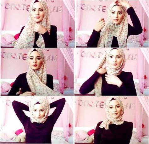 hijab tutorial quick quick beautiful hijab tutorial headcoverings pinterest