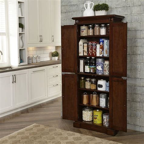 food pantry cabinet home depot americana cherry food pantry 5005 69 the home depot
