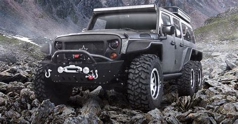 China Jeep Firm Reveals 6x6 Jeep Wrangler The Tomahawk