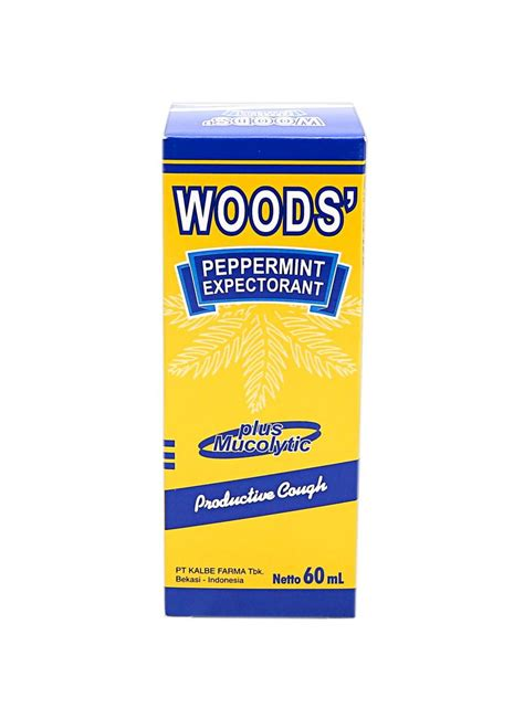 Obat Woods woods obat batuk liquid peppermint expectorant btl 60ml