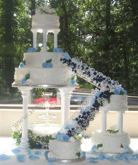 Wedding Steps by Wedding Cake With And Stairs Cakecentral