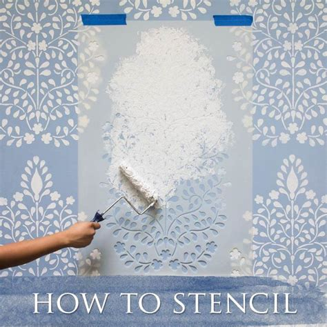 25 best ideas about wall painting stencils on