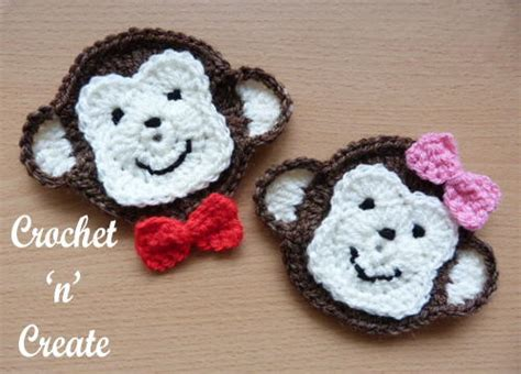 monkey applique monkey appliqu allfreecrochet