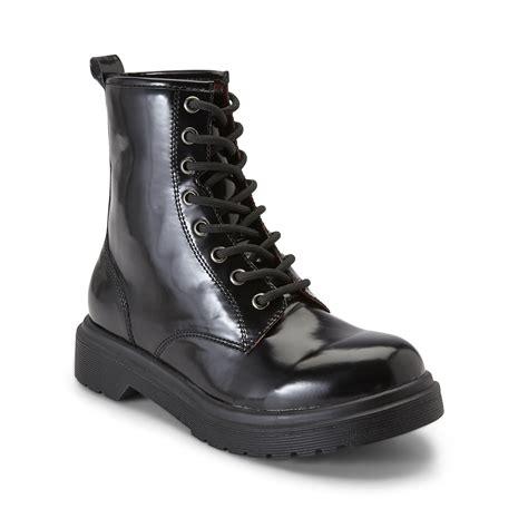 bongo junior s oz black chunky combat boot shoes