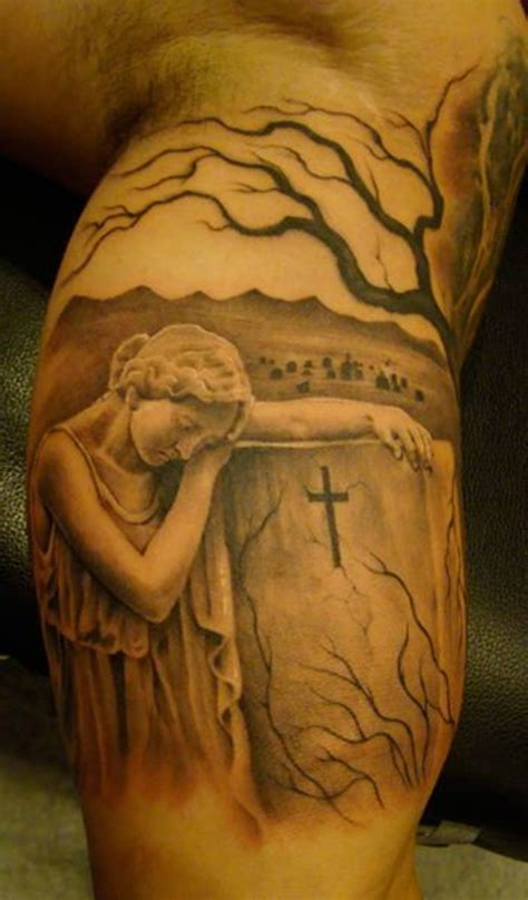 25 amazing graveyard and cemetery tattoos