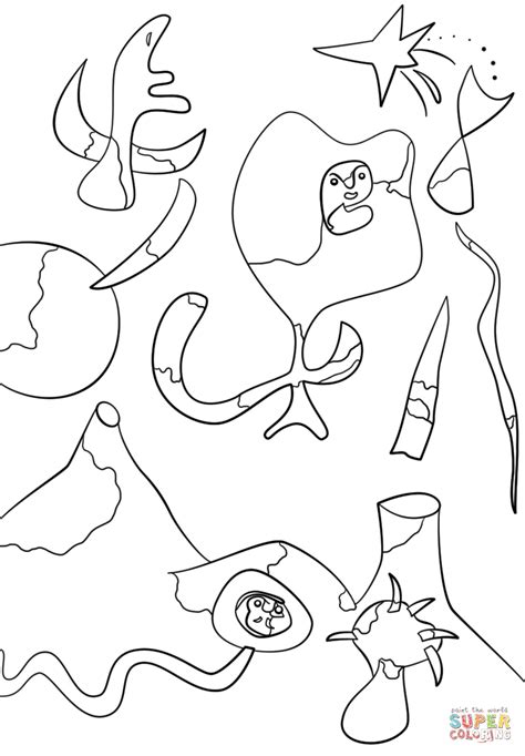 pin miro colouring pages on