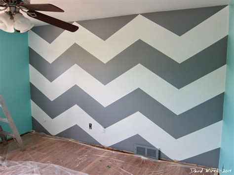 Zig Zag Wall Pattern | baby room remodel idea