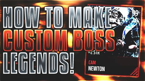 Madden Mobile 17 Card Template by How To Make Custom Legend Cards Tutorial Template