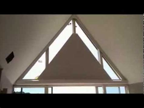 triangle window coverings electric triangle roller blind