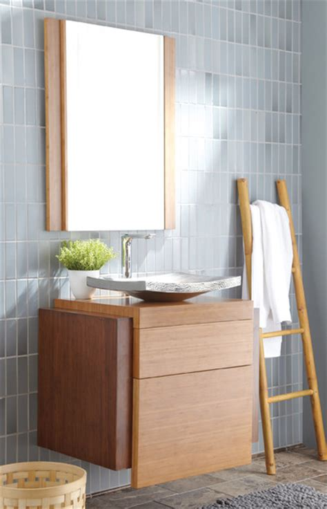 modern bathroom vanity bamboo harmony wall mount bamboo bath vanity by trails