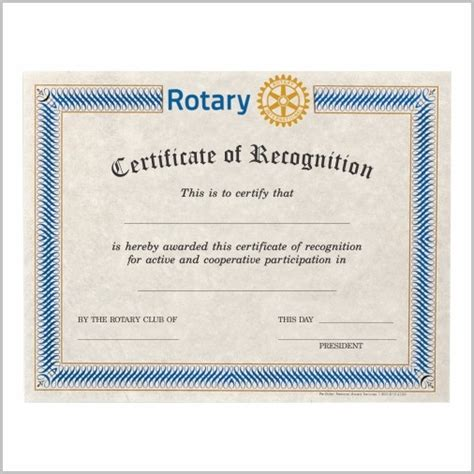 rotary certificate of appreciation template rotary certificate of appreciation template templates 1