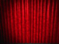 opening curtains animated powerpoint slide