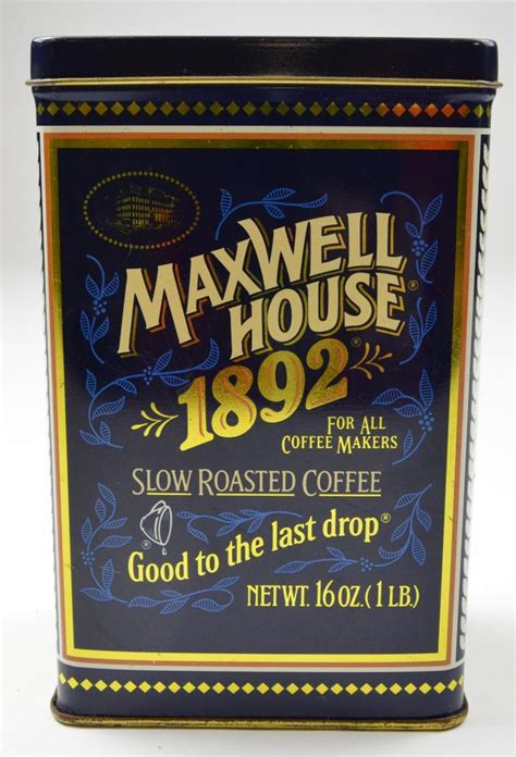 maxwell house forum maxwell house 100th anniversary 16 oz coffee tin 6 5 quot tall