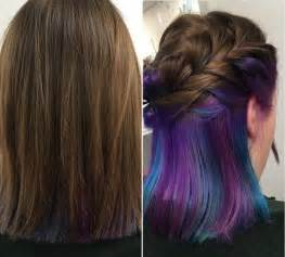 color underneath hairstyles 25 best ideas about purple peekaboo hair on pinterest