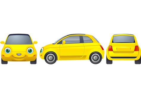cars characters yellow yellow car download free vector art stock graphics images