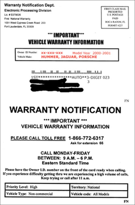 Pcso Guarantee Letter Expiration Car Warranty Scams Fraud Guides