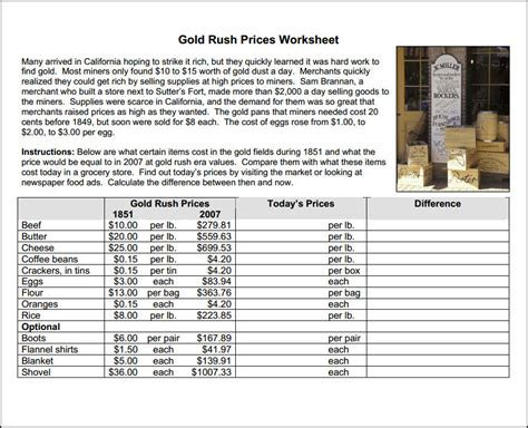 Gold Worksheets by California Gold Worksheets Resultinfos