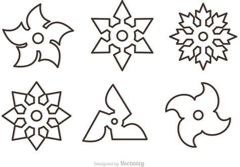 outline ninja star vectors download free vector art
