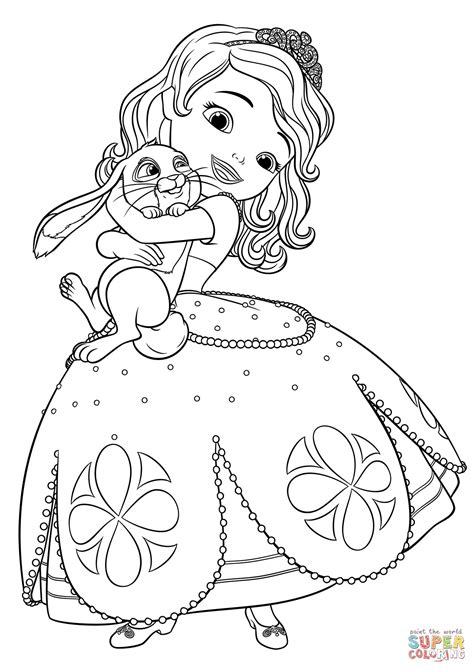 beautiful princess sofia coloring pages hellokids com sophia the first coloring page freecolorngpages co