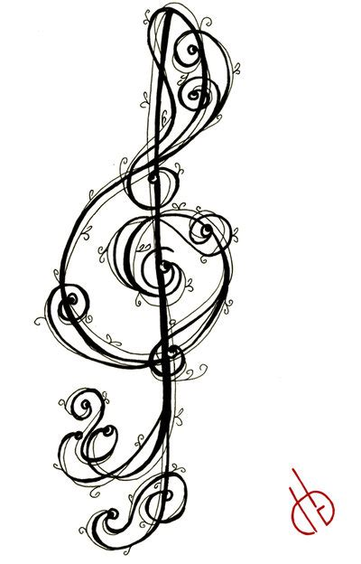 treble clef with rose tattoo pin treble clef design in singapore on