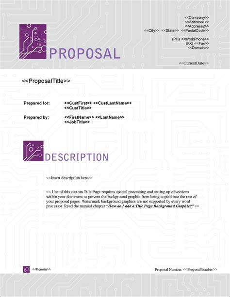 design proposal title proposal pack tech 5 software templates sles