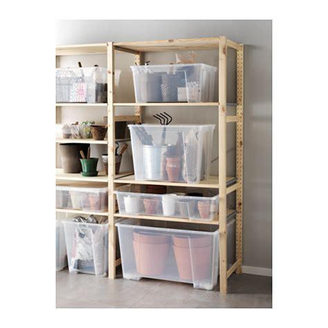 ikea tool storage samla box transparent 78x56x43 cm 130 l ikea