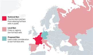 colorado ban map mapped where is the burka banned in europe world
