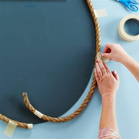 cornice per specchio fai da te decorare uno specchio con una cornice fai da te in corda