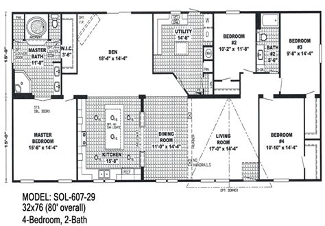 bedroom double wide trailers floor plans mobile homes ideas