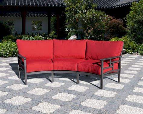 patio settee essenza patio crescent sofa by sunny designs su 4716 l3