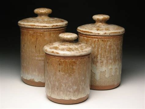 pottery kitchen canister sets kitchen canister set pottery by brentsmithpottery on etsy