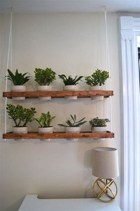 hanging wall planters indoor 2 tier hanging indoor wall planter made to order by pinoakprojects