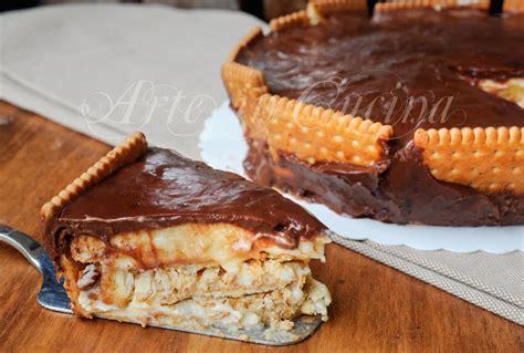 idea cucina veloce torta tedesca con biscotti e cioccolato ricetta veloce