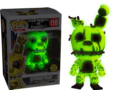 Halo Wall Stickers springtrap glow in the dark pop vinyl figure five