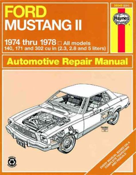 small engine repair manuals free download 1984 ford bronco ii electronic throttle control ford mustang 2 1974 1978 haynes service repair manual sagin workshop car manuals repair books