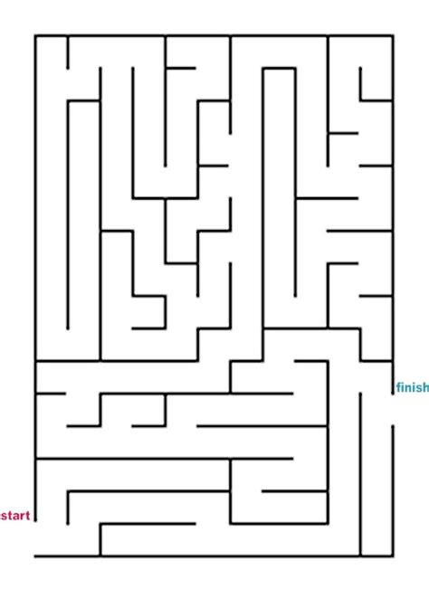 printable rectangular mazes mazes to print easy rectangle mazes
