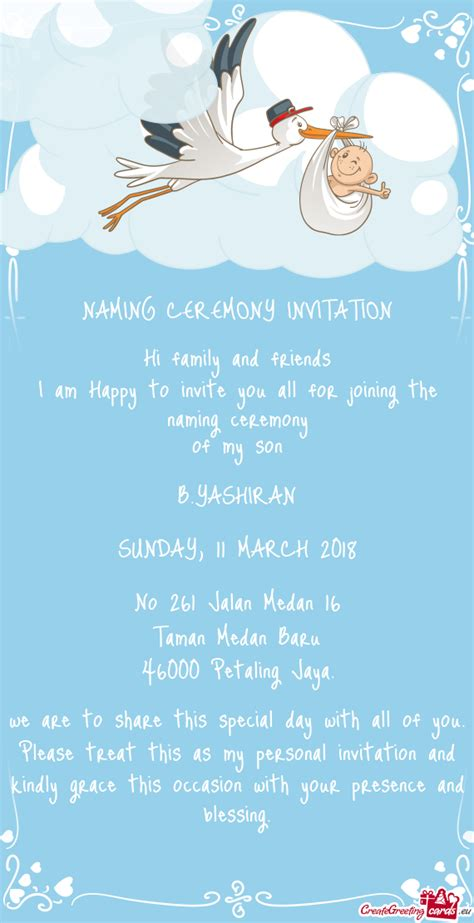 invitation maker for naming ceremony naming ceremony invitation free cards