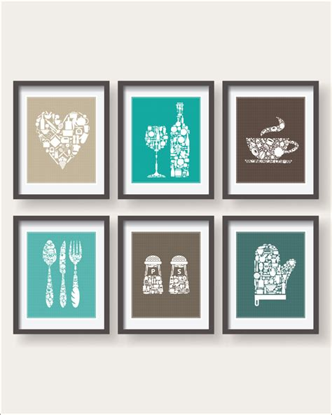 kitchen decor collections 6 set kitchen collections decor kitchen poster set kitchen