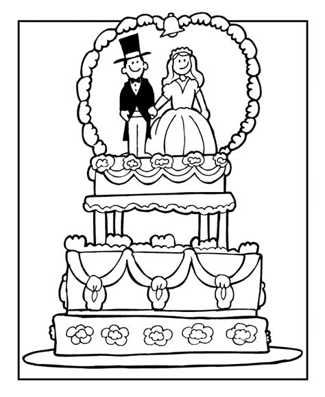 coloring book pages wedding wedding coloring pages for children coloring home