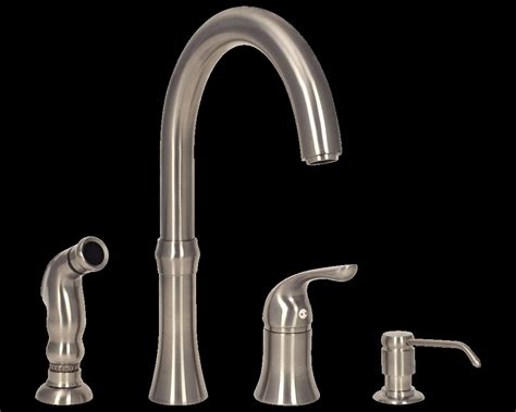 Kitchen Sink Faucets 4 Hole White Backsplash Kitchen With