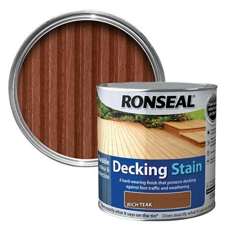 ronseal rich teak matt decking stain  departments