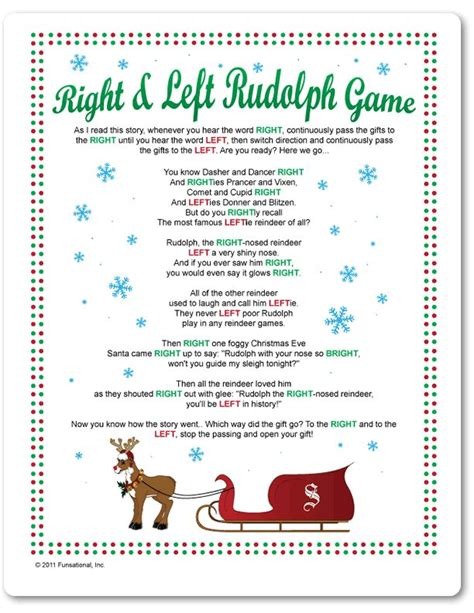 printable reindeer story 8 best images of printable left right rudolph game