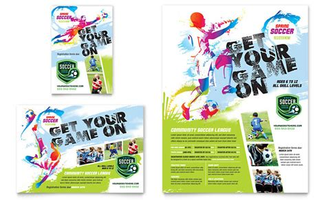 Youth Soccer Flyer Ad Template Design Sports Graphic Design Templates